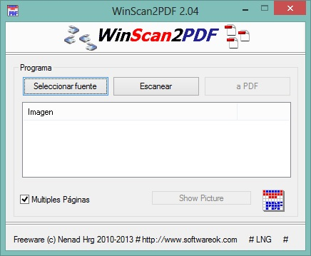 WintoPDF MUltiples páginas