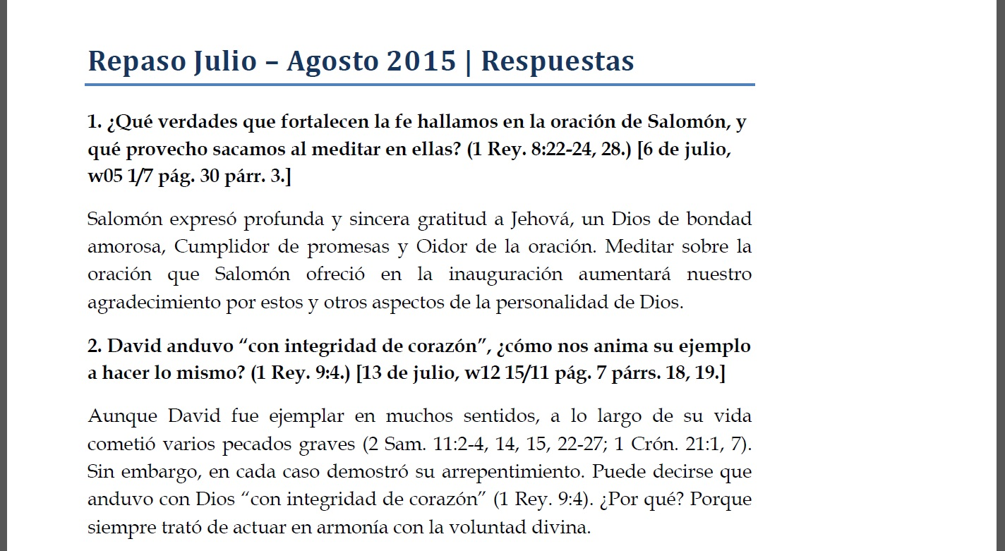 Repaso Julio-Agosto 2015 | Referencias | PDF, EPUB